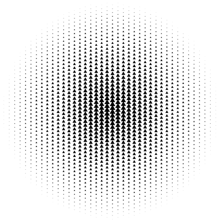 Halftone element. Abstract geometric graphic with half-tone pattern
