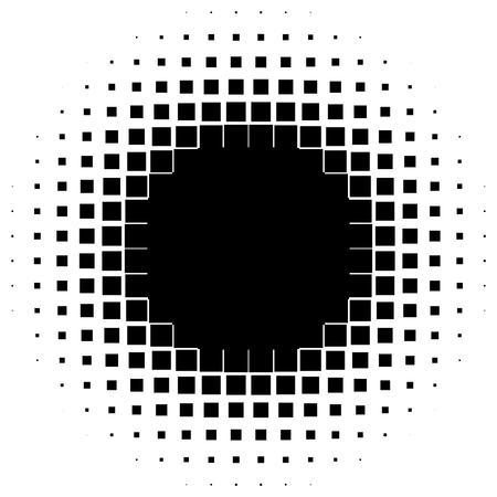 Abstracte geometrische afbeelding met halftintpatroon op zwart-witte illustratie. Stockfoto - 99294212