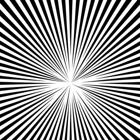 Lignes radiales abstraites, rayonnantes. Lignes concentriques, rayures Vecteurs