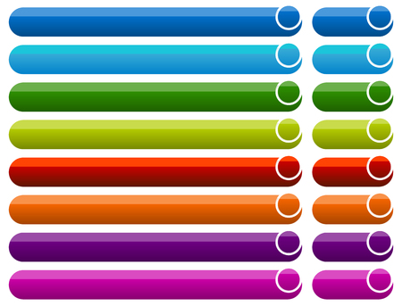 Botón horizontal, fondos de banner. Conjunto de banners, botones Ilustración de vector