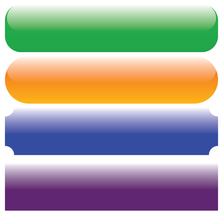 Botón de rectángulo, banner, fondos de placa con espacio vacío. Botones, pancartas Ilustración de vector