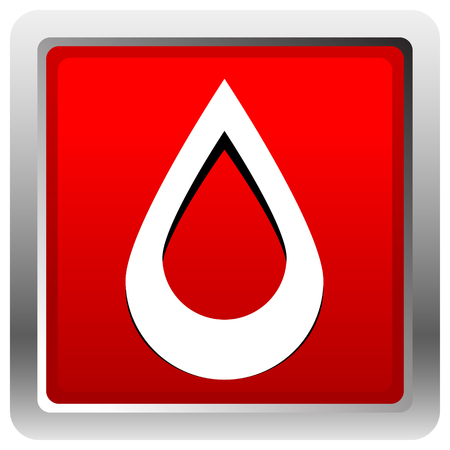 Icon with drop  shape. Water or other liquid, fluid drop shape 矢量图像