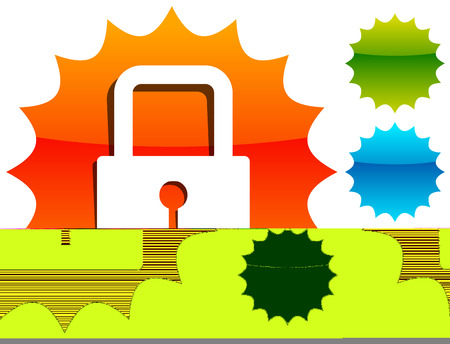 For security, prevention, privacy themes: Padlock icon Illustration