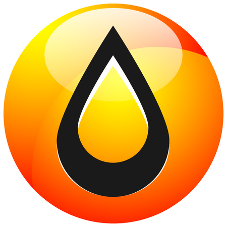 Icon with drop  shape. Water or other liquid, fluid drop shape  イラスト・ベクター素材
