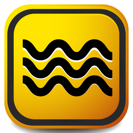Waves icon. Icon for waving water. Ocean, sea, pool icon