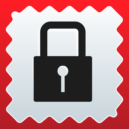 For security, prevention, privacy themes: Padlock icon Banco de Imagens - 118072059