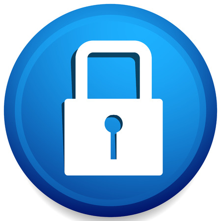 For security, prevention, privacy themes: Padlock icon Ilustração