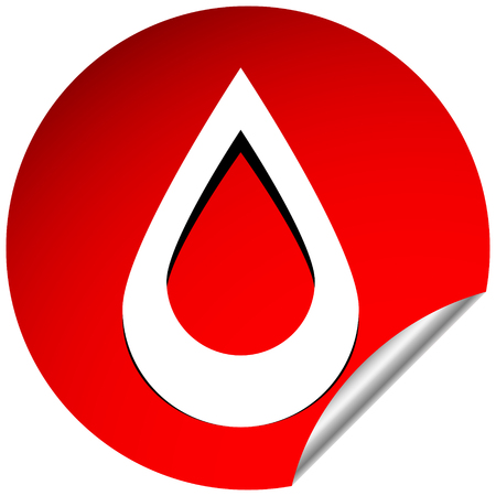 Icon with drop  shape. Water or other liquid, fluid drop shape 向量圖像