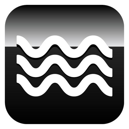 Icône de vagues. Icône pour agiter l'eau. Océan, mer, icône de la piscine Vecteurs