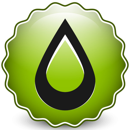 Icon with drop shape. Water or other liquid, fluid drop shape