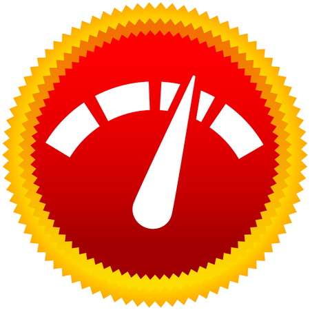 Icon with gauge, meter for calibration, indication, level themes