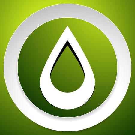 Icon with drop  shape. Water or other liquid, fluid drop shape Ilustração