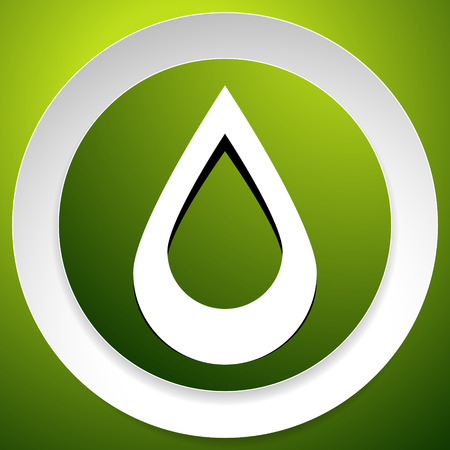 Icon with drop  shape. Water or other liquid, fluid drop shape Illustration