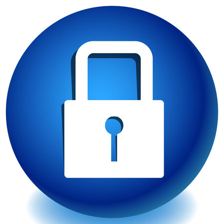 For security, prevention, privacy themes: Padlock icon Imagens - 118072370