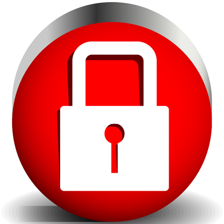 For security, prevention, privacy themes: Padlock icon Banco de Imagens - 118072491