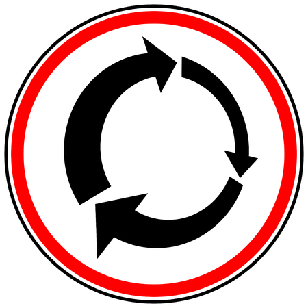 Icon with circular arrow - Revise, centrifuge, synchronize concepts