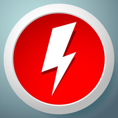 Icône avec étincelle, symbole de boulon d'éclairage pour les thèmes électriques Vecteurs