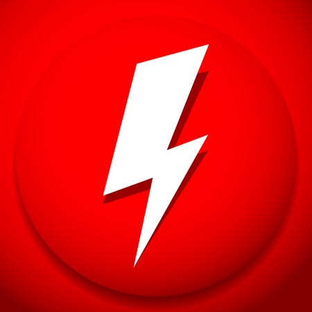 Icon with spark, lighting bolt symbol for electrical themes Ilustrace