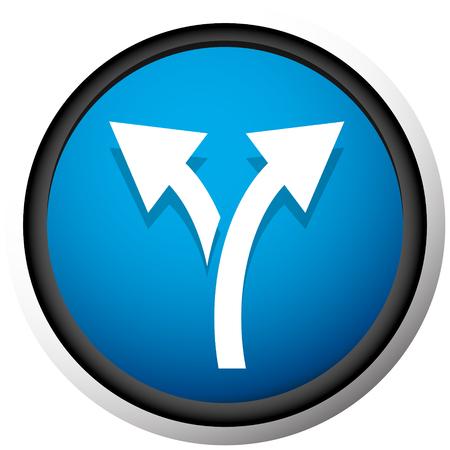 Icono con flecha de 2 vías. Rama, icono de desvío