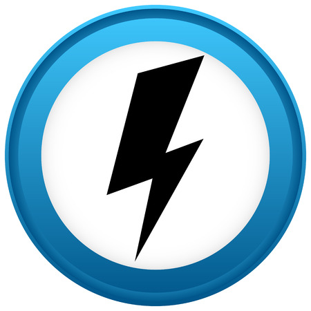 Icon with spark, lighting bolt symbol for electrical themes Vector Illustration