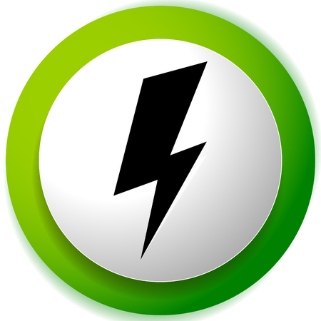 Icon with spark, lighting bolt symbol for electrical themes Ilustração
