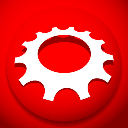Gear, cogwheel icon for repair, developement and such themes