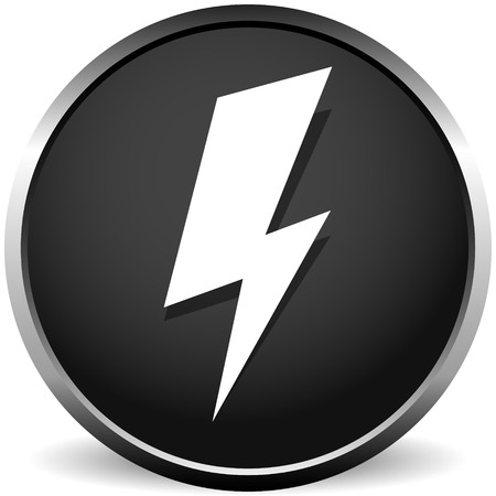Icon with spark, lighting bolt symbol for electrical themes Çizim