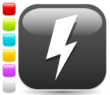 Icon with spark, lighting bolt symbol for electrical themes Illustration