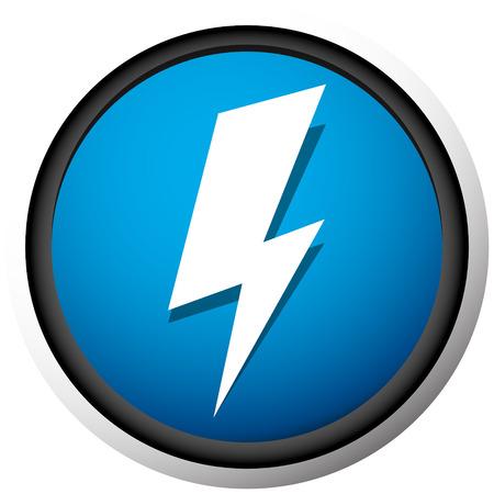 Icono con chispa, símbolo de perno de iluminación para temas eléctricos