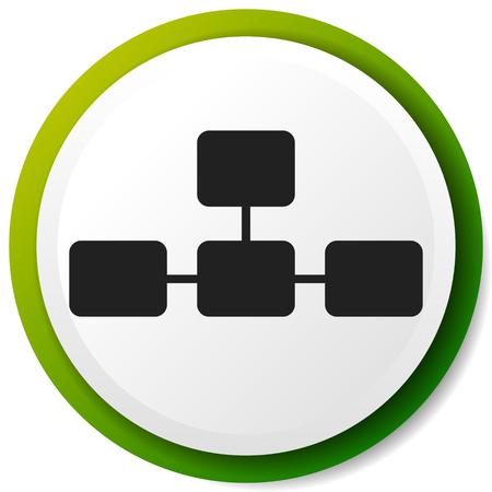 Topologisches, hierarchisches Diagrammsymbol, Multilevel-Diagramm, Grafik