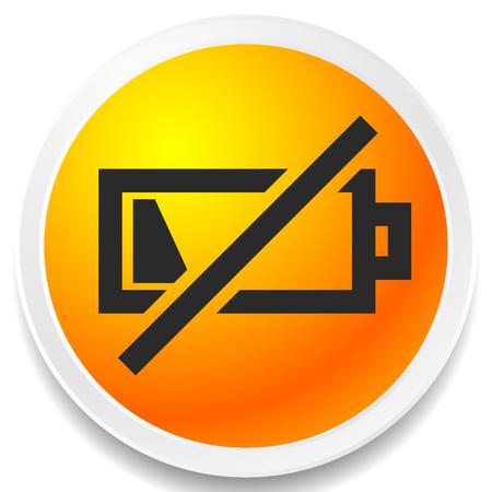 Pictogram met symbool voor bijna lege batterij, indicator voor batterijniveau