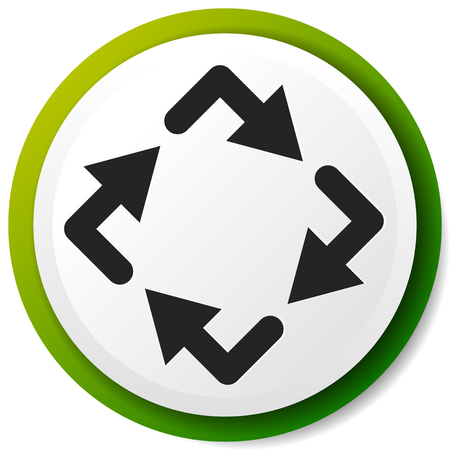 Circular arrows icon, Rotating arrows. Clockwise arrows Ilustrace