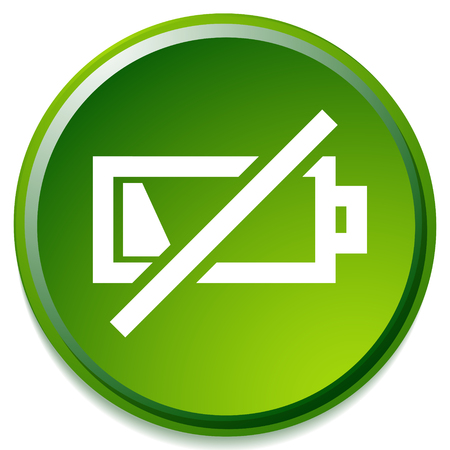 Icon with low battery symbol, Battery level indicator