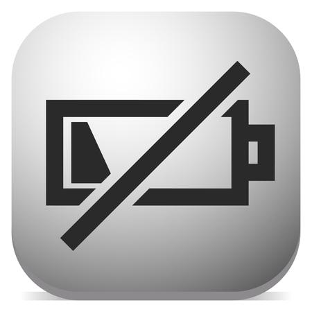 Pictogram met symbool voor bijna lege batterij, indicator voor batterijniveau Vector Illustratie