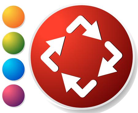 Circular arrows icon, Rotating arrows. Clockwise arrows Çizim