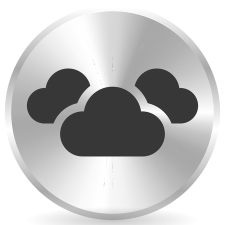 Icon with 3 clouds for vapor, weather, moisture themes Фото со стока - 118611165