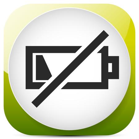 Symbol mit schwachem Batteriesymbol, Batteriestandsanzeige