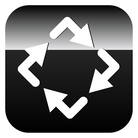 Circular arrows icon, Rotating arrows. Clockwise arrows Illustration