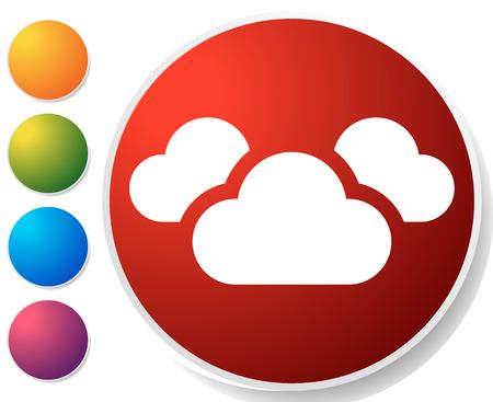 Symbol mit 3 Wolken für Dampf-, Wetter-, Feuchtigkeitsthemen