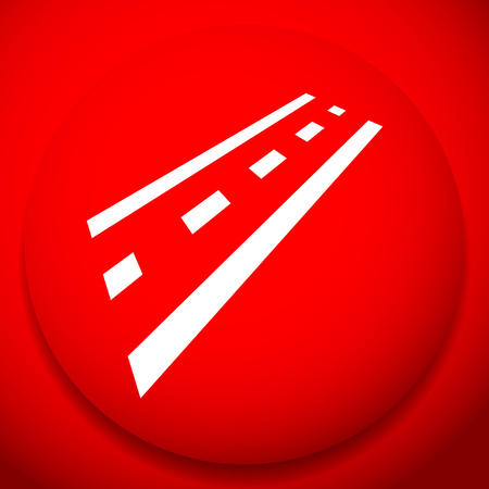 2-lane road icon for driving, traffic, transport or such themes