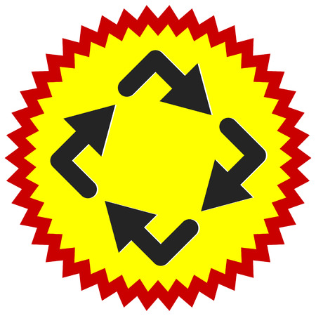 Circular arrows icon, Rotating arrows. Clockwise arrows Vettoriali