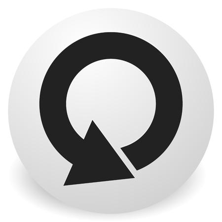Kreisförmiges 360-Grad-Pfeilsymbol, Phase, Zyklus, Neustart und ähnliche Konzepte