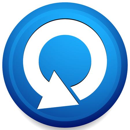 Circular 360 degree arrow icon, Phase, cycle, restart and similar concepts Vektorové ilustrace