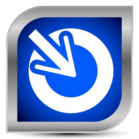 Position, précision, icône de concept d'alignement, points de curseur à l'intérieur d'un cercle