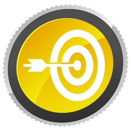 Arrow hitting target at center icon, Precision, accuracy icon Ilustración de vector