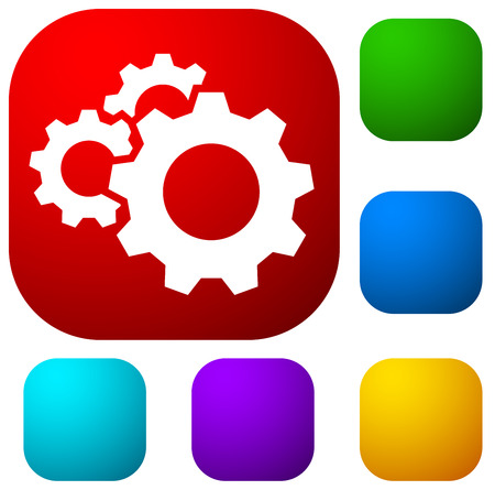 Gear, cogwheel icon. Repair, maintance, mechanics concept icon Illustration