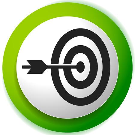 Freccia che colpisce il bersaglio all'icona centrale, Precisione, icona di precisione