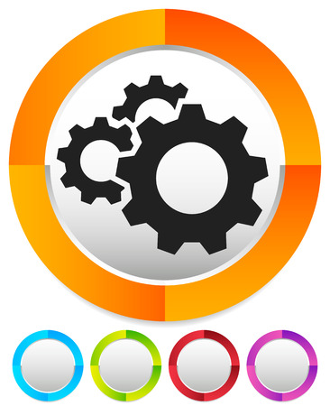 Gear, cogwheel icon. Repair, maintance, mechanics concept icon