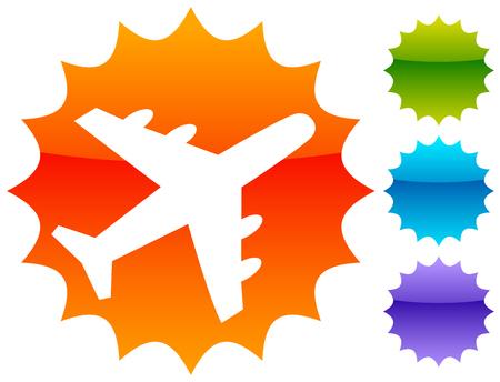 Airplane, airline, aircraft icon. Icon for flight themes Ilustração