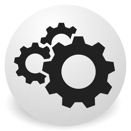 Gear, cogwheel icon. Repair, maintance, mechanics concept icon